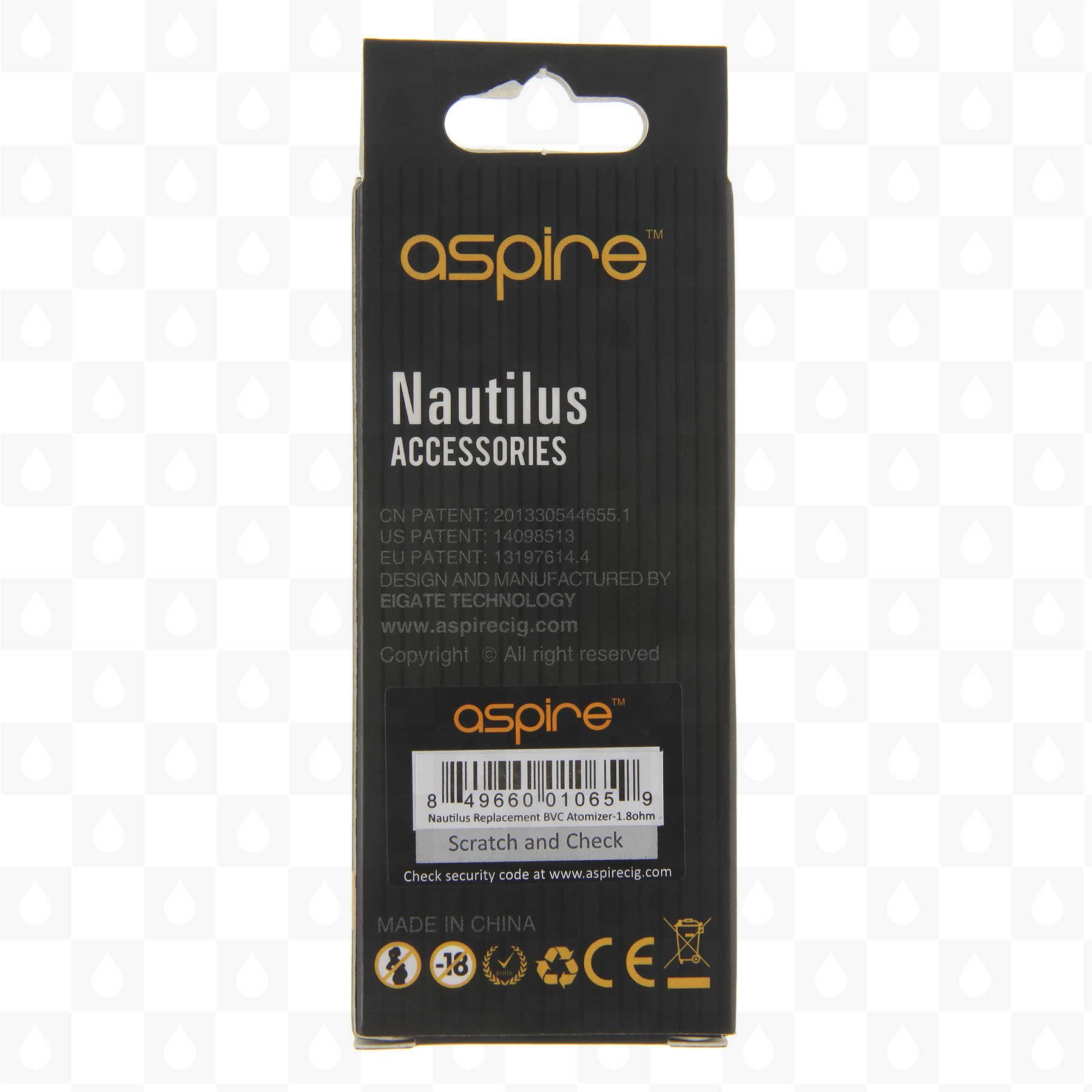 Aspire Nautilus Bvc Organic Cotton Replacement Coils Box Of Five Uk Vape Shop Redjuice