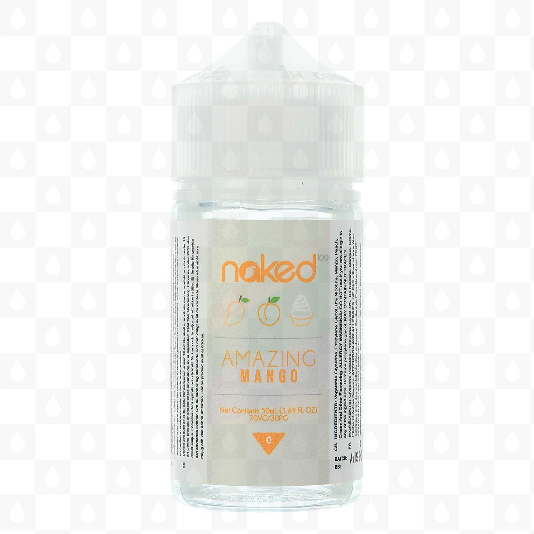 Naked 100 Amazing Mango E Liquid 50ml | UK Shipping and
