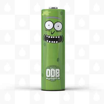 Pickle Rick 18650 Battery Wraps by ODB Wraps - Limited Edition!
