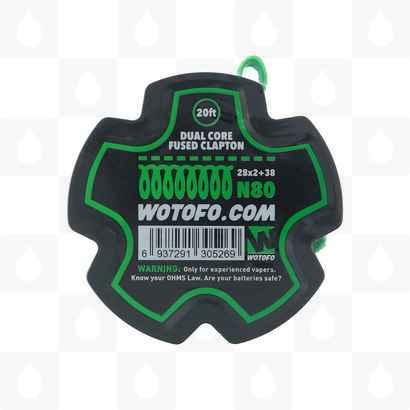 Wotofo Dual Core Clapton Wire N80 2x28G + 38G - 20ft