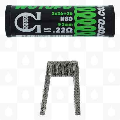 Wotofo Pre-made Coils   Alien Wire 0.22 Ohm Each Coil